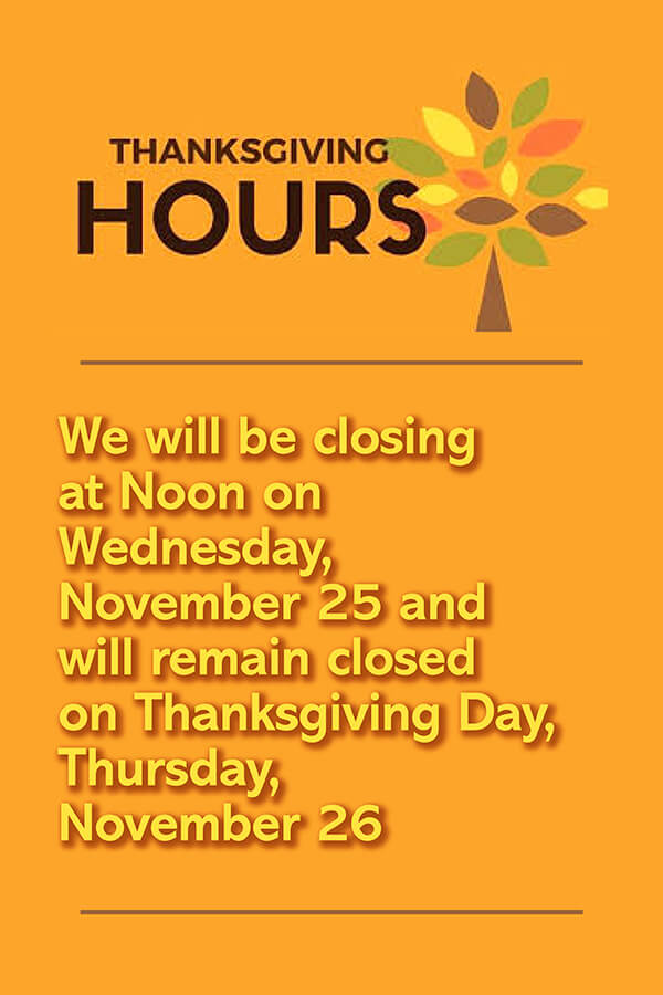 North MS Allergy Thanksgiving Hours mobile